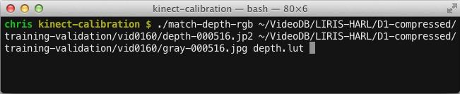 HARL 2012 - Kinect calibration